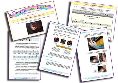 Contenu du cours de Guitare et Couleurs