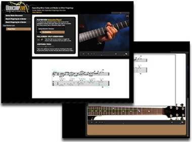Cours de guitare sur Workshop Live