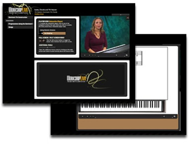 Cours de piano et de clavier sur Workshop Live