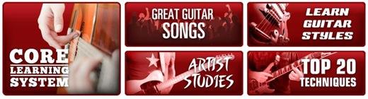 Un tout petit aperçu de ce que vous propose Guitar Tricks !