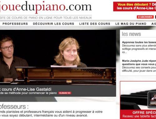 Interview du créateur de JeJoueDuPiano.com