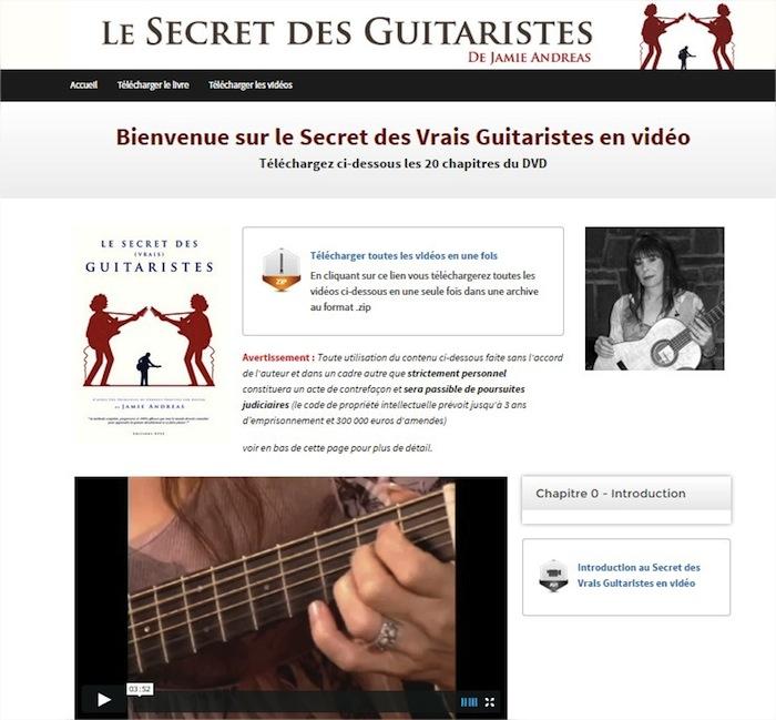 Méthode vidéo : Le Secret des Vrais Guitaristes