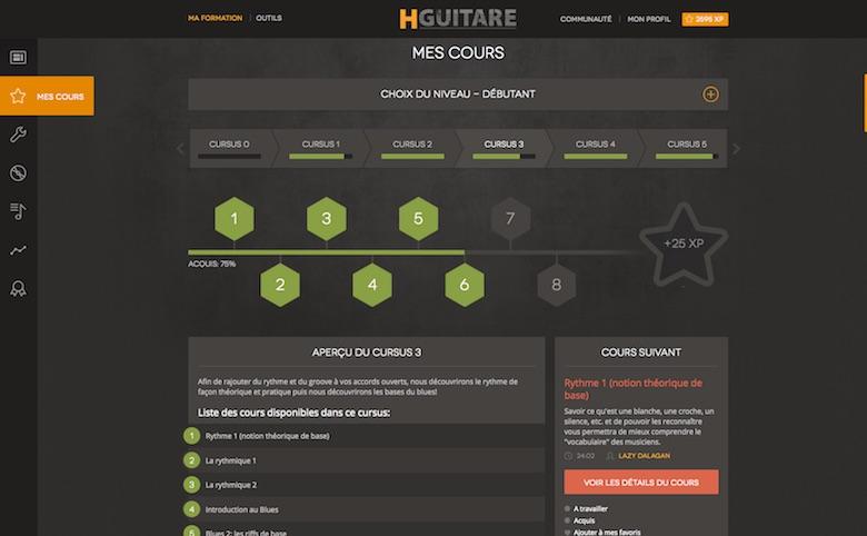 Les cours Cursus de HGuitare.com : une très bonne idée !